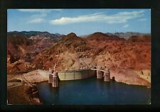 Oversized postcard Nevada NV Las Vegas Boulder City Hoover Dam Lake Mead