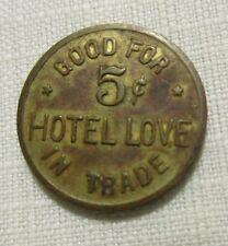 Scarce ~ Marietta Ok Oklahoma ~ Love Hotel / Love County ~ 1902 Bar Gf 5 Token
