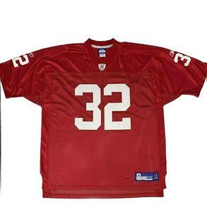 Edgerrin James Arizona Cardinals Jersey Men Size 2XL Red Reebok NFL Football #32