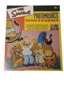 The Simpsons On Couch 1000 Piece Puzzle NEW Sealed minor box damage
