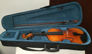 Forenza 4/4 Violin: with Bow,Chin Rest & Black Soft Lined Carry Case:With Straps