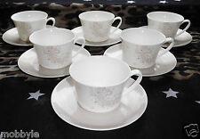 Rosenthal Curve Dandelion 6 Tee-/Cappuccino Tassen & Untertassen Neu 1.Wahl