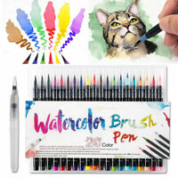 New 20 Colors Art Oil Watercolor Drawing Painting Brush Sketch Manga Pen Set