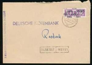 DDR Dienst B Nr. 11 / 1005 Brief RIBNITZ-DAMGARTEN 17.6.57 n. ROSTOCK (55735)
