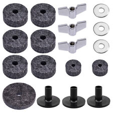 18pcs Cymbal Stand Felt Hi-Hat Clutch Cup Wing Nuts Sleeve Drum Accessories X0I9