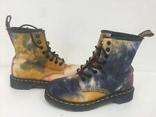 Used Womens Fabric Tye Dye Castel Dr martens Boots Uk3 EU36