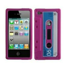 Silicone Case Case Cover IPHONE 4 4S Cassette K7 Pink