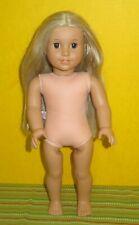 "Nude JULIE Albright 18"" American Girl Doll Long Blonde Hair Brown Eyes Beforever"