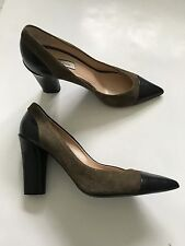 Paul Smith  Ladies  Brown Suede with black Leather toe Shoes