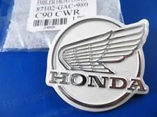 HONDA C50 C70 C90 FRONT COVER LEGSHIELD LOGO WING EMBLEM 87102-GAC-980 C110 NEW