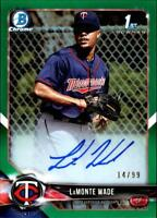 2018 Bowman Chrome Prospects Autograph Green Refractor LaMonte Wade RC AUTO /99