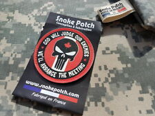 SNAKE PATCH - PUNISHER god will judge our enemies - CANADA QUEBEC érable RANGER