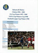 Roberto DI MATTEO CHELSEA 1996-2002 fotografia originale firmata a mano