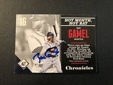 Ben Gamel Signed 2017 Panini Chronicles Card Auto Mariners Brewers COA