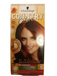 3 Packs X SCHWARZKOPF Country Colors HAIR DYE 58 Grand Canyon Red