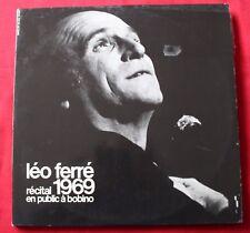 Leo Ferre, recital 1969 en public à Bobino, 2LP - 33 Tours