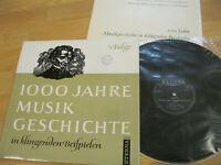 LP  1000 Jahre Musik Geschichte 5. Folge Vinyl Eterna DDR 8 20 351