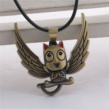 Fairy Tail Happy Cat Choker Leather Necklace Pendant Anime Cosplay Fans Gift