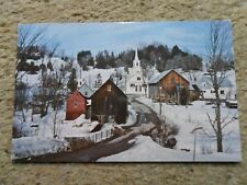 .POSTCARD.WINTER BEAUTY IN VERMONT.POSTED 1992 40cSTAMP.