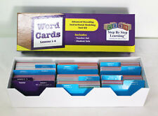 Step By Step Learning SBSL Word Cards Lessons 1-4 Advanced Decoding Modeling Kit