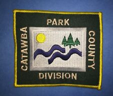 Rare Catawba County Park Division Souvenir Travel Hipster Jacket Patch Crest