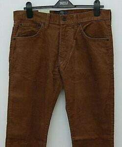 Marks and Spencer Slim Fit Corderoy Trousers - Nutmeg/Brown - 34 / 29 - BNWT