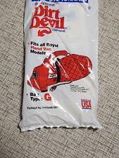 Dirt Devil Replacement Vacuum Bags Type G 3-010348-001 lot of 5