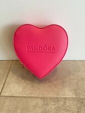 PANDORA | PINK HEART JEWELRY GIFT BOX *NEW* STORAGE CASE CHARMS EARRINGS
