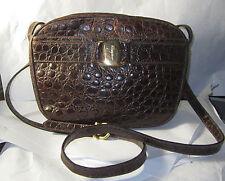 Salvatore Ferragamo Gancini Vara Shoulder Bag Leather Brown Authentic Handbag