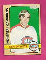 1972-73 TOPPS # 160 CANADIENS KEN  DRYDEN  2ND YEAR GOOD CARD (INV# C5509)
