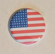 """1.25"""" Pinback Button Badge American Flag (Pins Approx. 32mm) 'Buy 2 Get 2 Free'"""