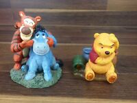 Disney Winnie The Pooh Bear Tiger Eeyore Pair Ornament Collection Figures X2