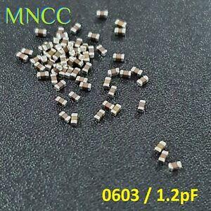 2/5/10p 0603 1608 1.2pF 50V 10% MLCC Capacitor SMD Multi Layer Ceramic C0G Loose