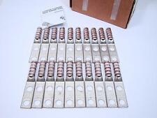 Box of 20 Panduit LCCX2-38DE Two Hole Copper Lug Flex Long Barrel #2 AWG STR