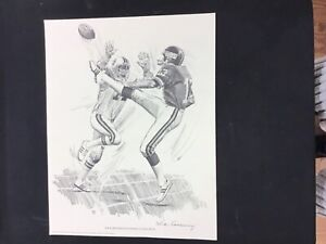 1981 Shell Oil Co Nick Galloway Dave Jennings New York Giants 11x14 Inch Print