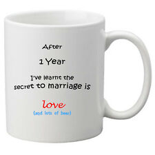 The Secret to Marriage Mug (1st Year) Perfect Gift for 1st Wedding anniversary.
