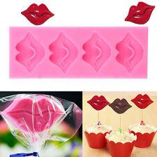 3D Moule Silicone Lèvres Bouche Rouge Gâteaux Bonbon Chocolate Biscuit Pâtisseri