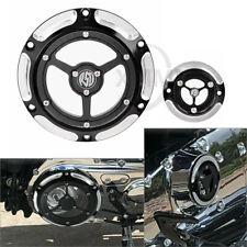 Derby Timing Timer Cover Aluminum Black& Chrome For Harley Sportster XL 883 1200