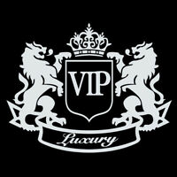 """VIP Luxury"" Lion Funny.Car SUV Truck SUV Sticker Bumper Window Decal Decoration"
