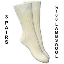 MENS %100 PURE KNITTED LAMBSWOOL THERMAL WARM SOCKS (3 PAIRS) UK7-10