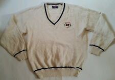 Vtg 90s Nutmeg Mills Michigan V Neck Sweatshirt Sz 2XL SEWN 1993 ROSE BOWL
