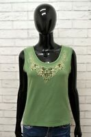 Maglia MARELLA Donna Taglia M Maglietta Blusa Shirt Smanicato Woman Cotone Verde