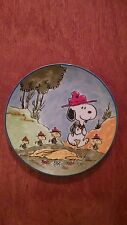 """Snoopy and the Beagle Scouts"" 1984 Schmidt collector plate"