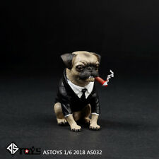 ASTOYS 1/6 2018 AS032 Pug Suit Starling Cigar Dog Scene Props Action Figure Toys