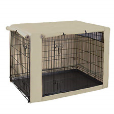 New listing HiCaptain Polyester Dog Crate Cover - Durable Windproof Pet Kennel Cover for 42