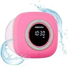 MEDION P66096 Duschradio Badradio Display Saugnapf Bluetooth 30W IPX6 pink