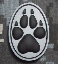 3D PVC K9 DOG TRACKER PAW USA ARMY MORALE BADGE SWAT ACU VELCRO® BRAND PATCH