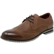 Alpine Swiss Mens Leather Wingtip Lace-Up Oxford Dress Shoes BRN 12 M US
