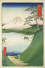 3 Reproduction Japanese Woodblock Mount Fuji Snow Scenes Views Prints Pictures