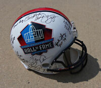 NFL HALL OF FAME Signed F/S Helmet PROOF 15 Sigs